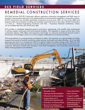 Remediation Service Brief - SCS Engineers