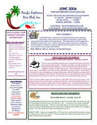JUNE 2004 Pacific Explorers Dive Club, Inc.