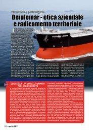Deiulemar - etica aziendale e radicamento territoriale - Porto & diporto