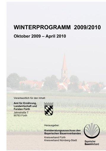 winterprogramm 2009/2010 - Amt für Ernährung, Landwirtschaft und ...