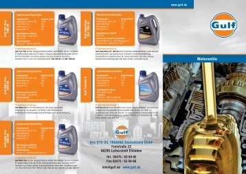 Download Motorenöl Flyer - Gulf Deutschland
