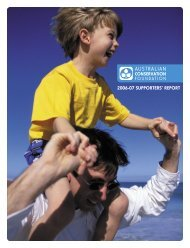 Supporters' Report 2006-07 - Australian Conservation Foundation
