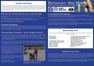 March 2013 Newsletter - Spofforth Cricket Club