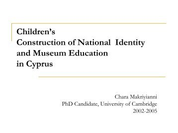Greek Cypriot Children's Constructions of National Identidy and ...