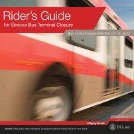 Rider's Guide - Calgary Transit