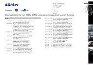 Produkteliste für 3er BMW (E36),Limousine,Coupé,Cabrio ... - daehler
