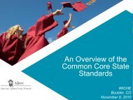 An Overview of the Common Core State Standards - WICHE
