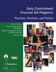 Early Commitment Financial Aid Programs - Pathways to College ...