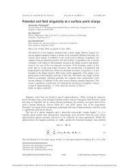 Potential and field singularity at a surface point charge - Menem.com