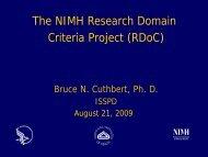 The NIMH Research Domain Criteria Project (RDoC) - Borderline ...