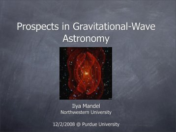 Prospects in Gravitational-Wave Astronomy - chgk.info