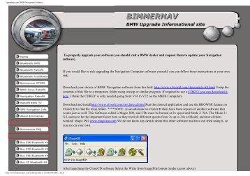 Upgrading your BMW Navigation Software