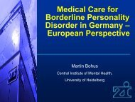 Medical Care for Borderline Personality Disorder in Germany—A ...