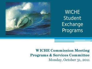 WICHE Student Exchange Programs