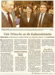 Viele Wuensche an die Kultusministerin - Goldader-bildung.de