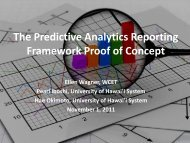 The Predictive Analytics Reporting Framework Proof of ... - WICHE