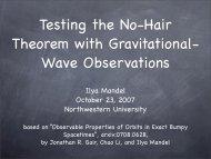 Ilya Mandel October 23, 2007 Northwestern University - chgk.info