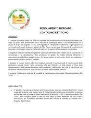 Il regolamento del mercato contadino - Agenda 21 Est Ticino