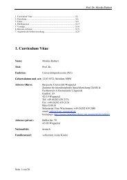 1. Curriculum Vitae - Zentrum für interdisziplinäre Sprachforschung ...