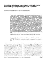 Magnetic anomalies and metamorphic boundaries in the southern ...