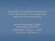 Recognition and Treatment of Borderline Personality Disorder in the ...
