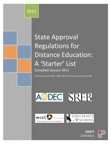 State Approval Regulations for Distance Education ... - WCET - WICHE