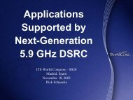 Applications Supported by Next-Generation 5.9 GHz DSRC