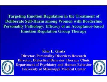 handouts – Dr. Gratz - Borderline Personality Disorder