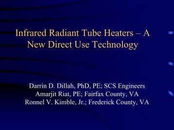 Infrared Radiant Tube Heaters – A New Direct Use ... - SCS Engineers