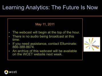 Slides from the webcast. - WCET - WICHE