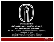Using Alumni in the Recruitment and Retention of Students - AACRAO