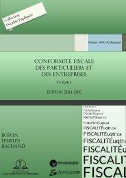 conformité fiscale des particuliers et des entreprises - Université du ...