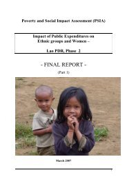Impact of Public Expenditures on Ethnic groups and ... - LAD - nafri
