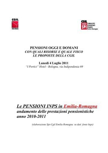 LE PENSIONI INPS IN EMILIA ROMAGNA - CGIL Modena