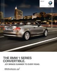 THE BMW 1 SERIES CONVERTIBLE.