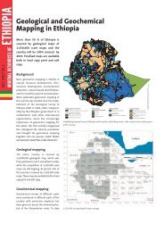 Geological and Geochemical Mapping in Ethiopia