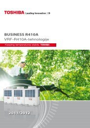 BUSINESS R410A 2011/2012 - Toshiba