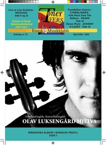 Katalog nr 75 - Velkommen til Etnisk Musikklubb