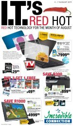 Red hot technology for the month of august - Find Specials