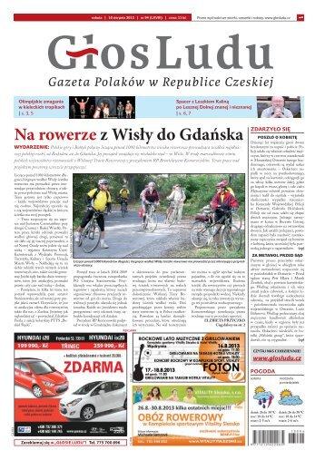 Na rowerze z Wisły do Gdańska - GlosLudu.cz