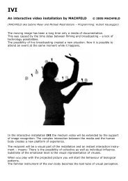 An interactive video installation by MACHFELD