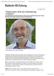 Badische Zeitung, Ralf H. Dorweiler - Martin Forter