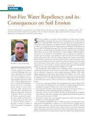 Post-Fire Water Repellency and its Consequences on Soil Erosion