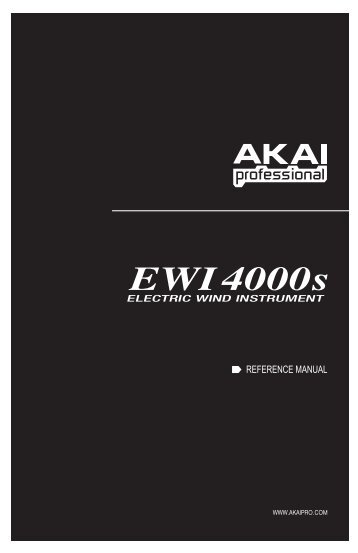 EWI4000s Manual - Patchman Music