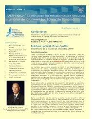 """""""AERH-News"""" Boletín para los estudiantes de Recursos Humanos ..."""
