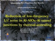 Reduction of low-frequency 1/f noise in Al-AlOx-Al tunnel junctions ...