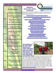In This Issue - Montana Association of Conservation Districts