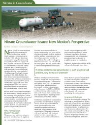 Nitrates in Groundwater - Southwest Hydrology