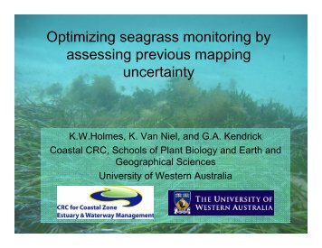 Optimizing seagrass monitoring by assessing previous ... - OzCoasts