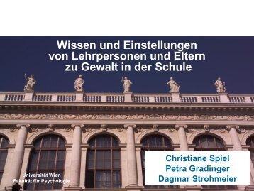 Vortrag Univ.-Prof. in DDr. in Christiane Spiel